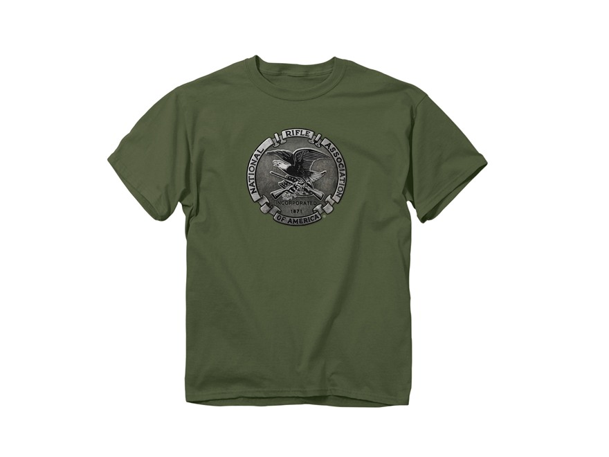 NRA Men's Pewter Logo Short Sleeve T-Shirt