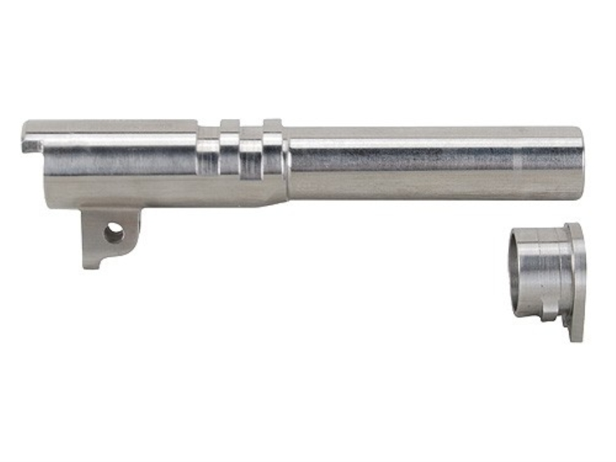 "Nighthawk Custom Match Grade Barrel with Bushing 1911 Commander 45 ACP 1 in 16"" Twist 4-1/4"" Stainless Steel"
