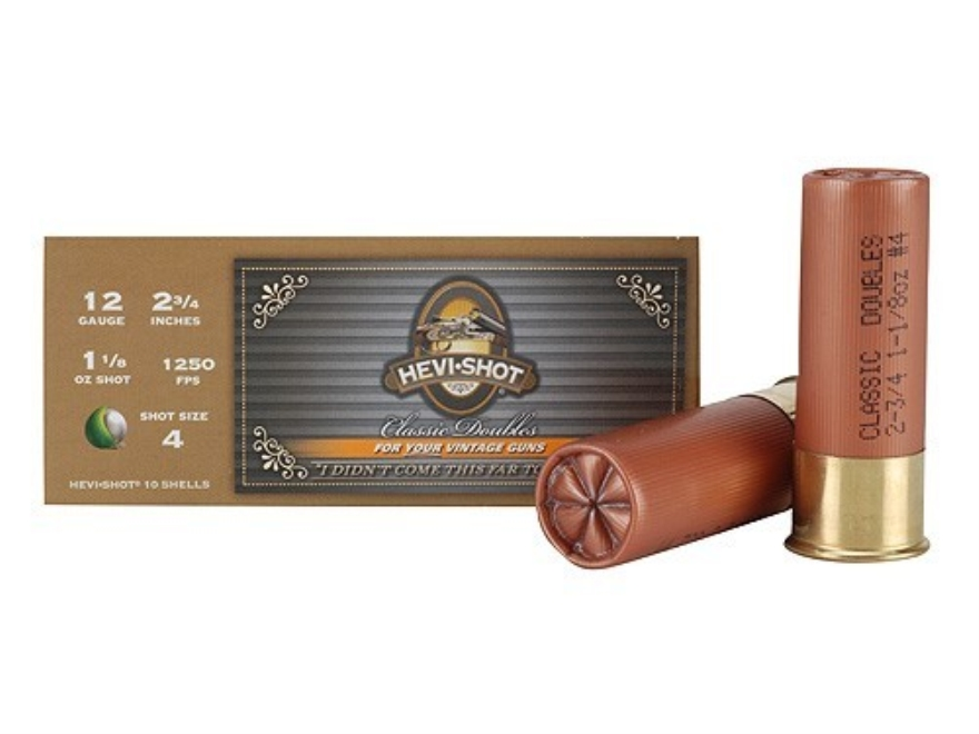"Hevi-Shot Classic Doubles Ammunition 12 Gauge 2-3/4"" 1-1/8 oz #4 Non-Toxic Hevi-Shot Box of 10"