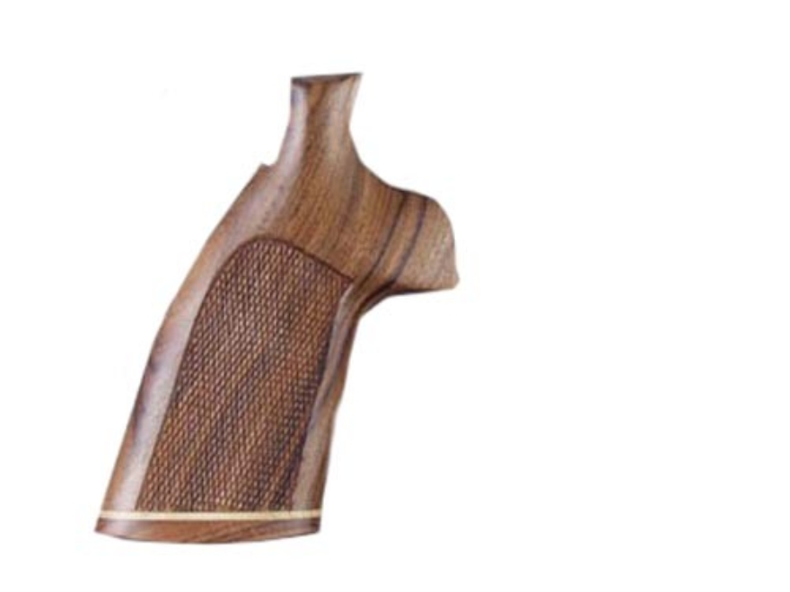 Hogue Fancy Hardwood Grips with Accent Stripe Taurus Small Frame Checkered