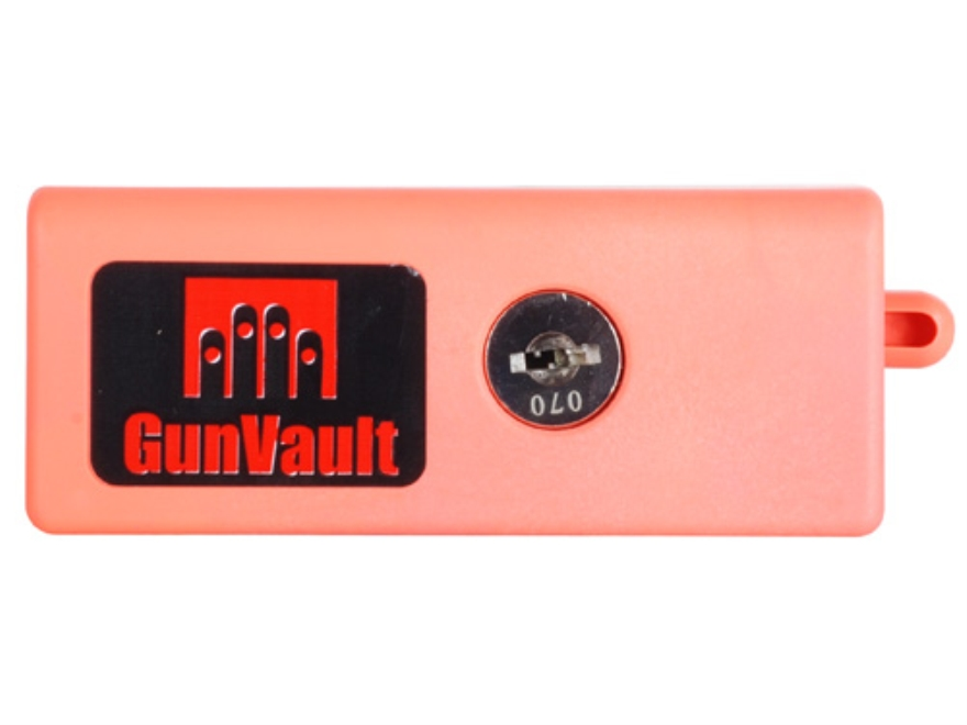 GunVault BreechVault 12 Gauge Pump Shotgun Breech Safety Gun Lock Polymer Orange
