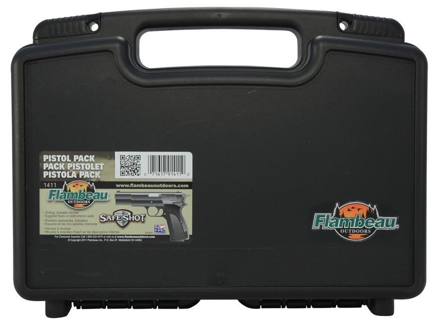 "Flambeau Safe Shot Pistol Case 14"" Black"