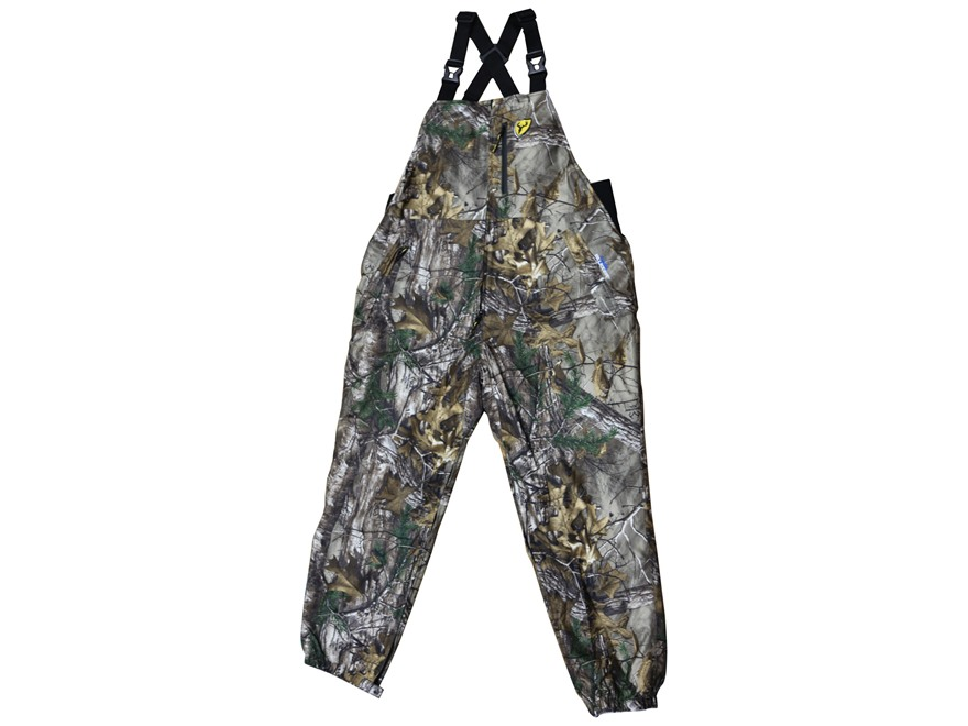 ScentBlocker Men's Switchback Reversable Bibs Polyester and Fleece Realtree Xtra and Realtree AP Snow