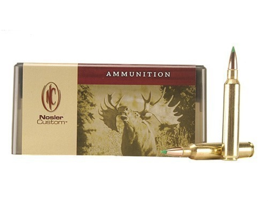 Nosler Custom Ammunition 300 Remington Ultra Magnum 180 Grain Ballistic Tip Hunting Box of 20