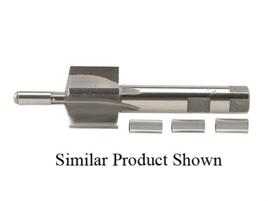 PTG 11-Degree Muzzle Crown Facing Tool with 30 Caliber and Up 4 Pilot Set (.300, .312, .330, .366)