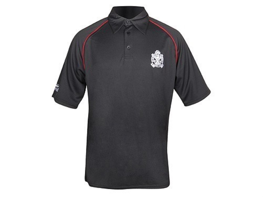 "Springfield Armory Crossed Cannons Polo Shirt Short Sleeve Mesh Synthetic Blend Black XL (48"")"