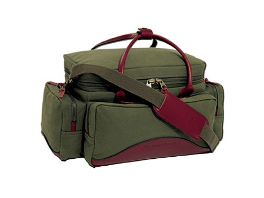 Boyt Estancia Sporting Clays Range Bag Canvas and Leather Green