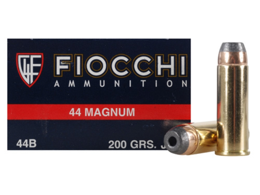 Fiocchi Shooting Dynamics Ammunition 44 Remington Magnum 200 Grain Semi-Jacketed Hollow Point Box of 50