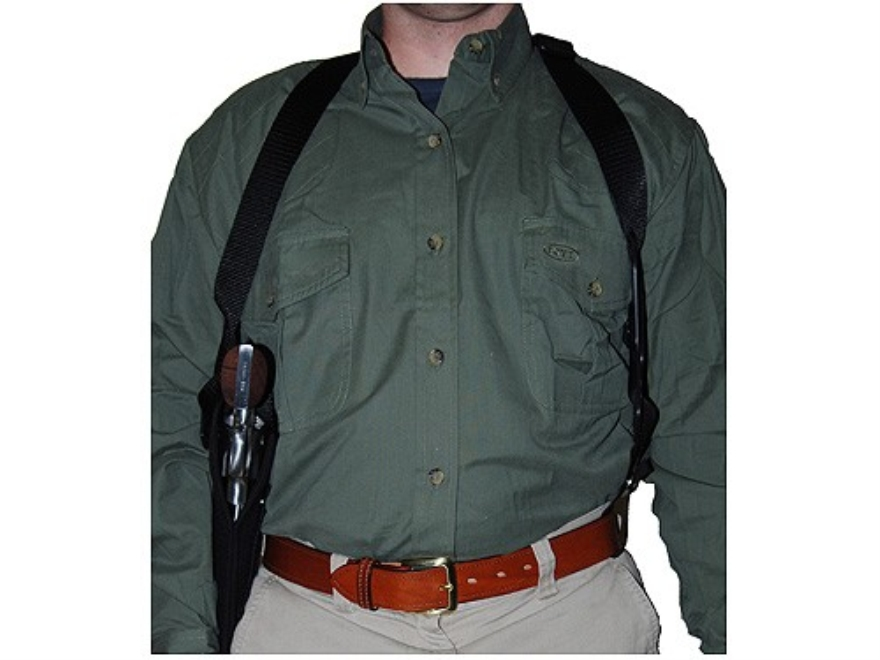 "Uncle Mike's Sidekick Vertical Shoulder Holster Left Hand Single, Double Action Revolver 9.5"" to 10-.75"" Barrel Nylon Black"