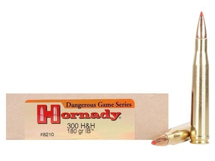 Hornady Custom Ammunition 300 H&H Magnum 180 Grain InterBond Box of 20