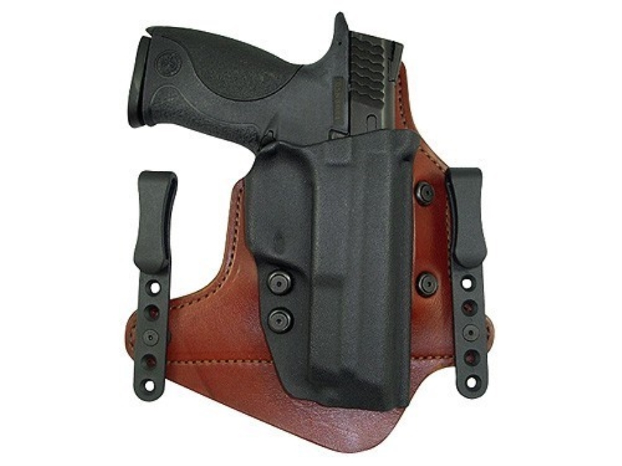 Comp-Tac Minotaur MTAC Neutral Cant Inside the Waistband Holster Right Hand Springfield XDM Slide Kydex and Leather Chestnut