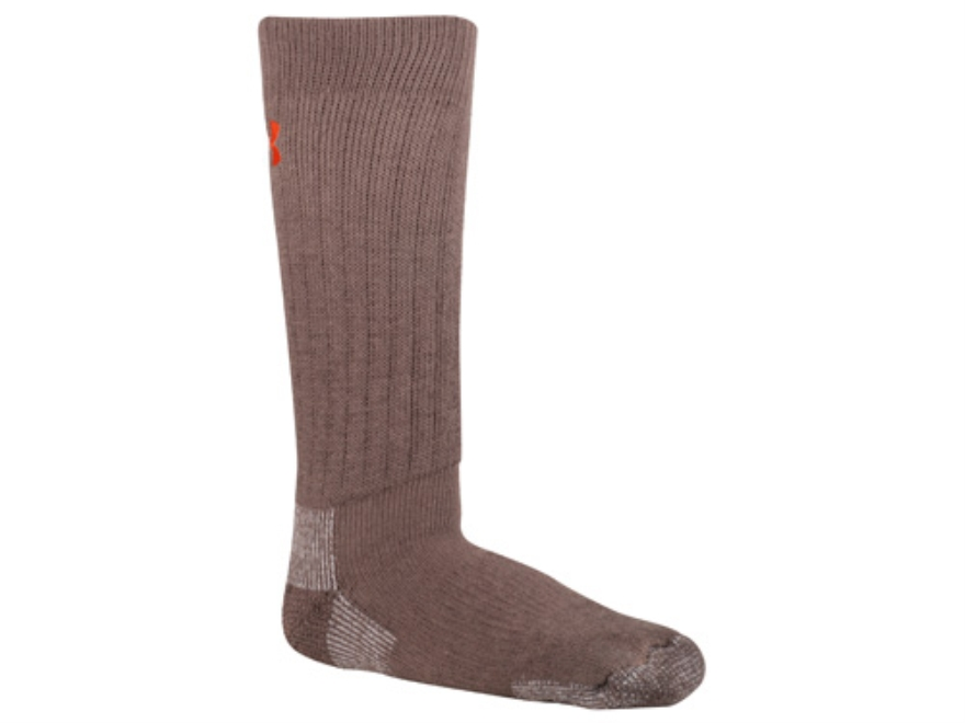 Under Armour Men's UA Scent Control Crew Socks Polyester Wool Blend Hearthstone Large (9-12-1/2)