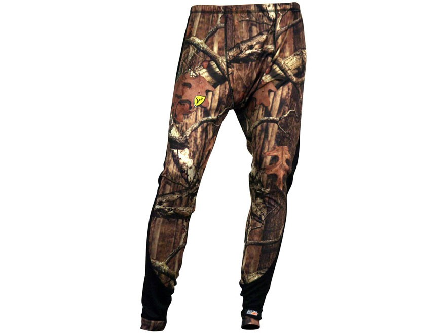 ScentBlocker Men's Midweight Base Layer Pants Polyester Mossy Oak Break-Up Infinity Cam...