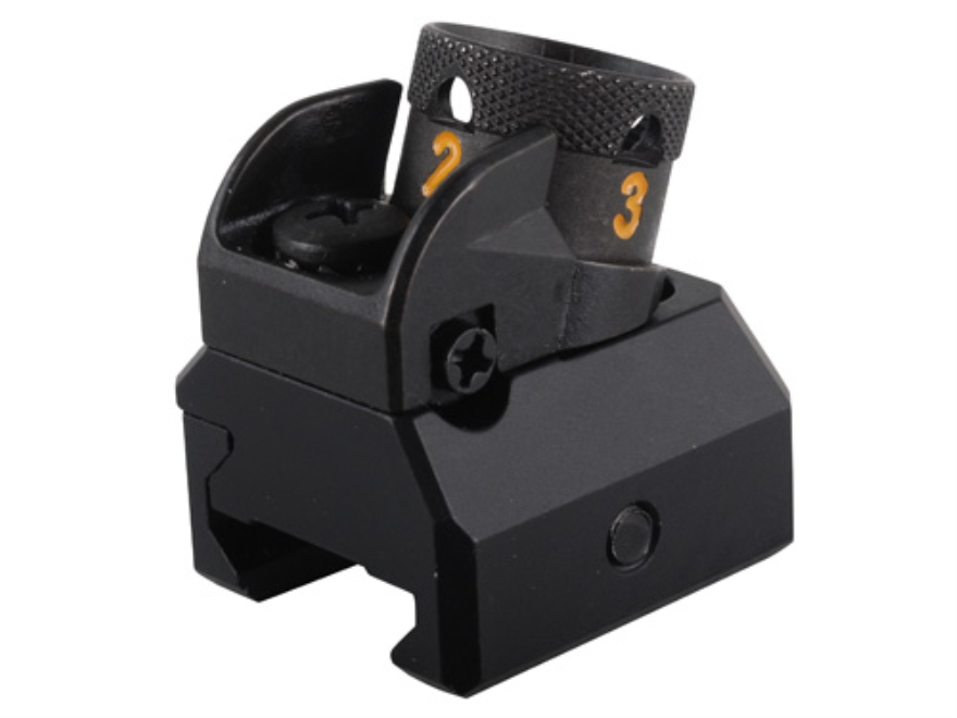 HK Detachable Fixed Rear Diopter Sight AR-15, MR556 Flat-Top Aluminum Matte