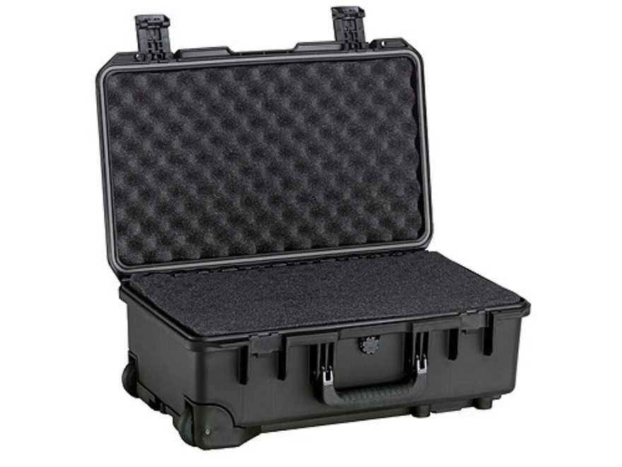 "Pelican Storm 2500 Carry On Case with Pre-Scored Foam Insert and Wheels 20-1/2"" x 11-1/2"" x 7"" Polymer Black"