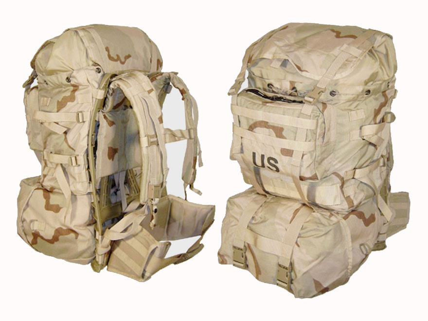 Military Surplus New Condition MOLLE II Standard Pack Desert Camo