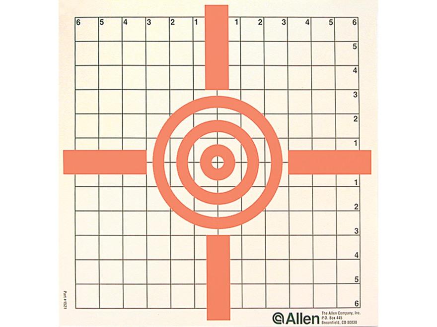 Allen Cross-Hair Style Paper Target Package of 12