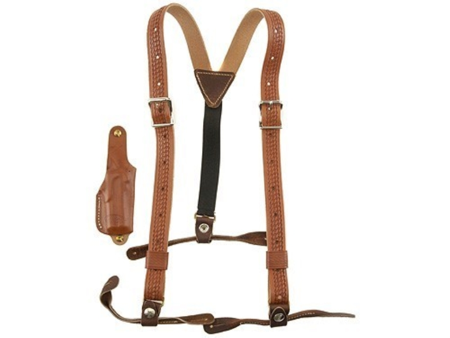 Hunter 1084-3 Derringer Holster with Suspenders Leather Chestnut