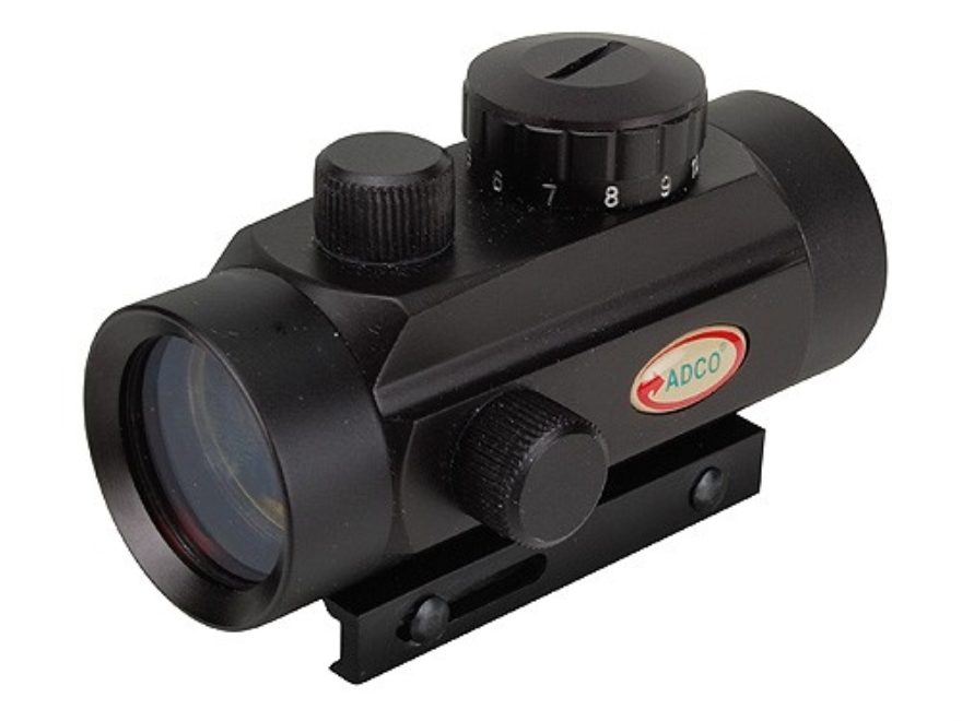 ADCO E-Dot Compact Red Dot Sight 30mm Tube 1x 3 MOA Dot with Integral Rimfire/Airgun Mo...