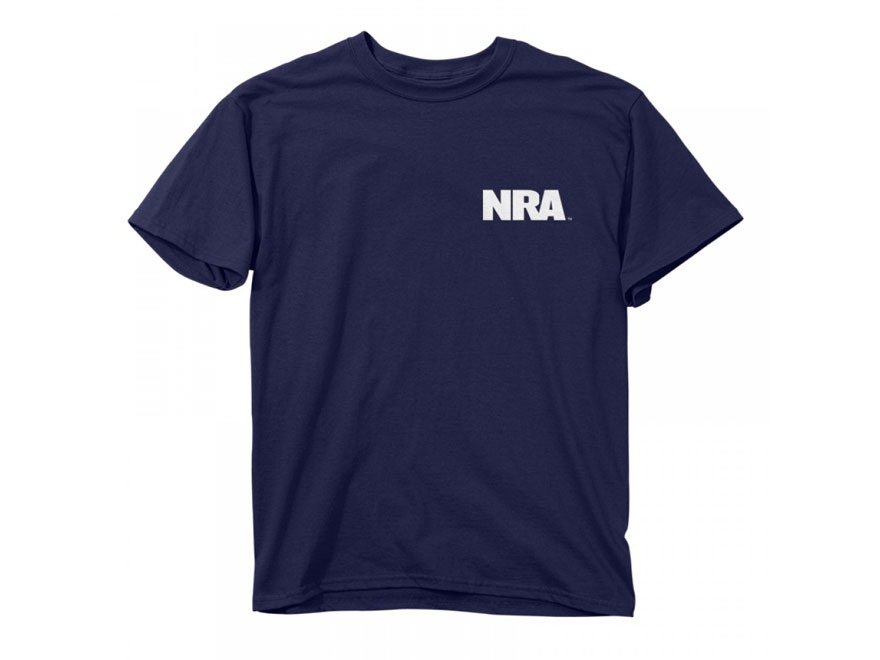 NRA Men's Keep Calm Carry Guns T-Shirt Short Sleeve Cotton Navy