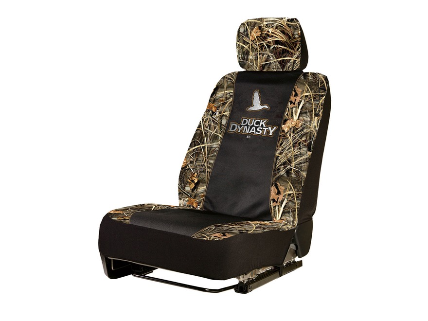 "Duck Dynasty Low Back Seat Cover ""Duck Dynasty"" Logo Black/Camo"