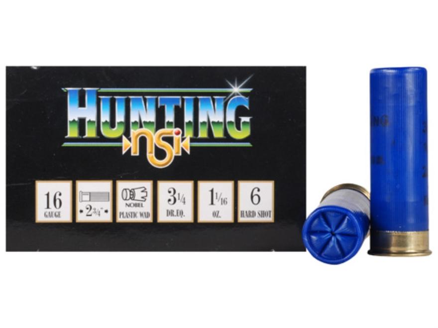 """NobelSport Hunting Ammunition 16 Gauge 2-3/4"""" 1-1/16 oz #6 Shot Box of 25"""