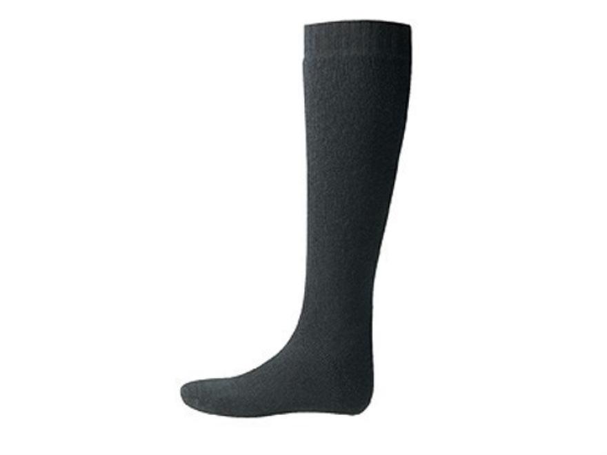 Wool Power Men's 600 Gram Over the Calf Socks Wool Black Large (7-10)