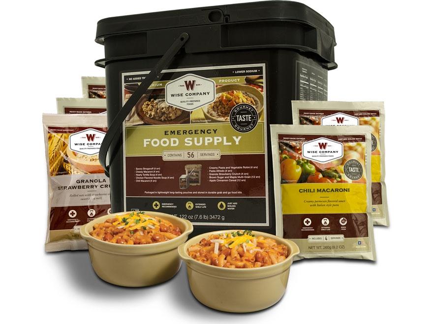 Wise Food Grab N' Go Freeze Dried Meals 56 Serving Bucket