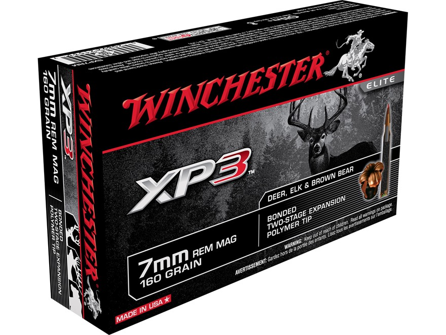 Winchester Ammunition 7mm Remington Magnum 160 Grain XP3 Box of 20