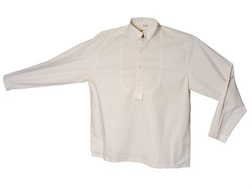 "WahMaker Tombstone Shirt Long Sleeve Cotton Ivory Large (44"")"