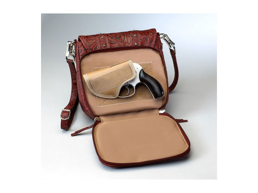 Gun Tote'n Mamas Simple Bling in Tooled Leather Shoulder Bag