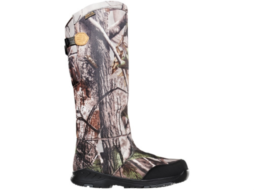 "LaCrosse Coil Scent HD 18"" Waterproof Uninsulated Snake Boots Leather and Nylon Brown and Realtree APG HD Camo Men's 7 D"