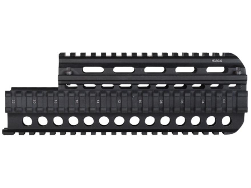 UTG 2-Piece Handguard Quad Rail Saiga 7.62x39mm Aluminum Matte