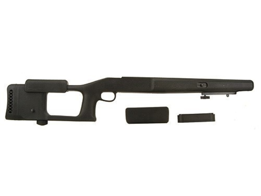 "Choate Ultimate Varmint Rifle Stock Savage 10 Series Short Action Staggered Feed with 4.275"" Screw Spacing Blind Magazine 1.25"" Barrel Channel Synthetic Black"