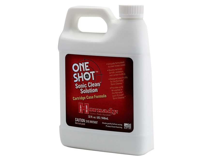 Hornady One Shot Sonic Cleaner Ultrasonic Case Cleaning Solution Liquid