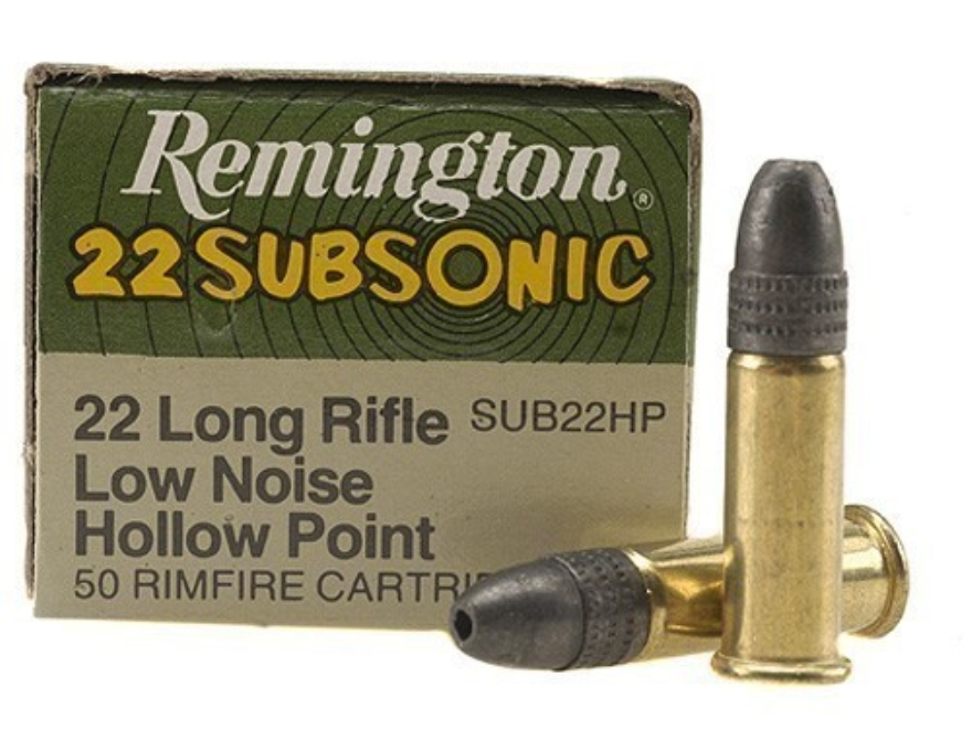 Remington Ammunition 22 Long Rifle Subsonic 38 Grain Lead Hollow Point