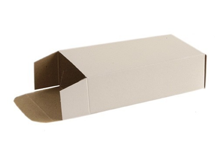 MidwayUSA Folding Cartons 25 ACP, 380 ACP, 9mm Luger 50-Round Cardboard White Box of 500