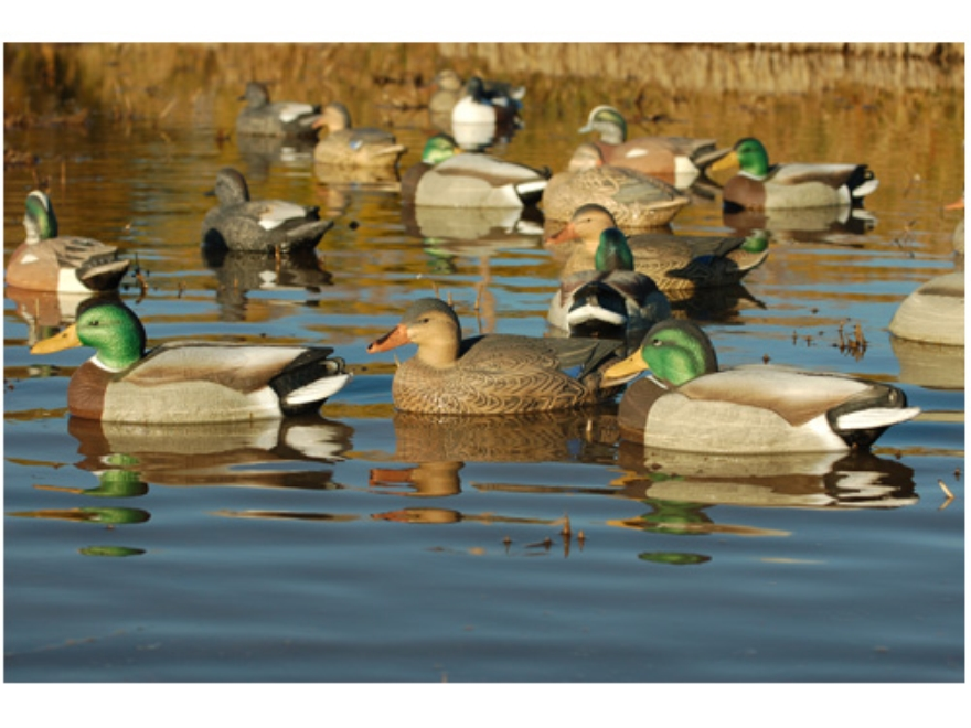 GHG Life-Size Weighted Keel Mallard Duck Decoys Pack of 12