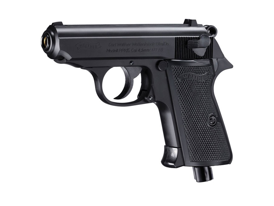 Walther PPK/S Air Pistol 177 Caliber BB Black