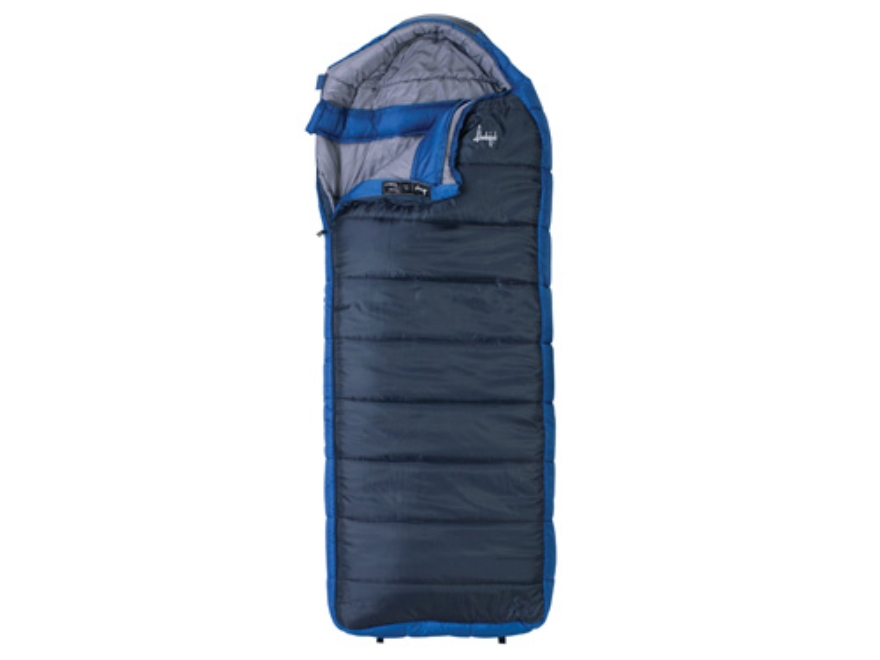 "Slumberjack Esplanade -20 Degree Sleeping Bag 34"" x 84"" Polyester Navy and Blue"