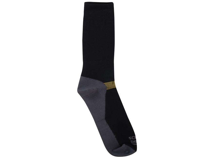 Scent Blocker Men's Lightweight Socks Synthetic Blend Black 1 Pair
