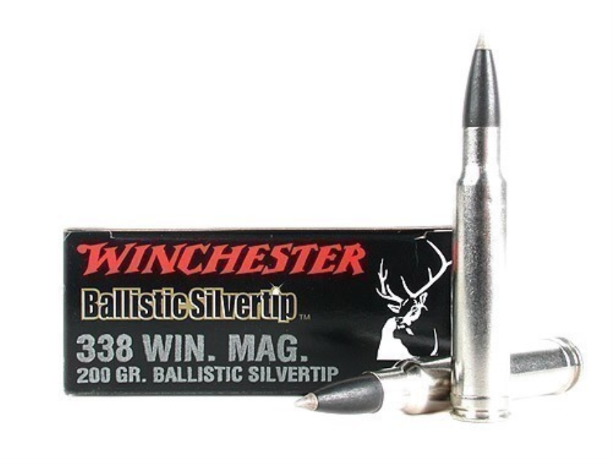 Winchester Ammunition 338 Winchester Magnum 200 Grain Ballistic Silvertip Case of 200 (10 Boxes of 20)