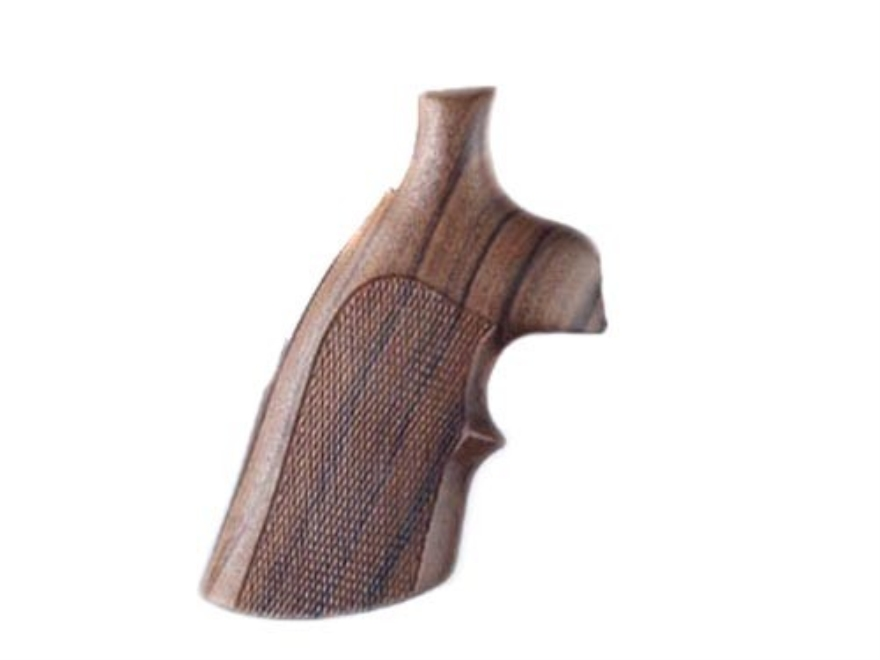 Hogue Fancy Hardwood Grips with Top Finger Groove Colt 38 SF-VI Checkered