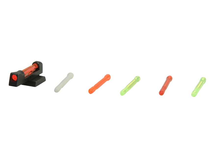 "HIVIZ Front Sight 1911 Novak Cut 0.180"" Height Steel Fiber Optic with 6 Interchangeable Lite Pipes"