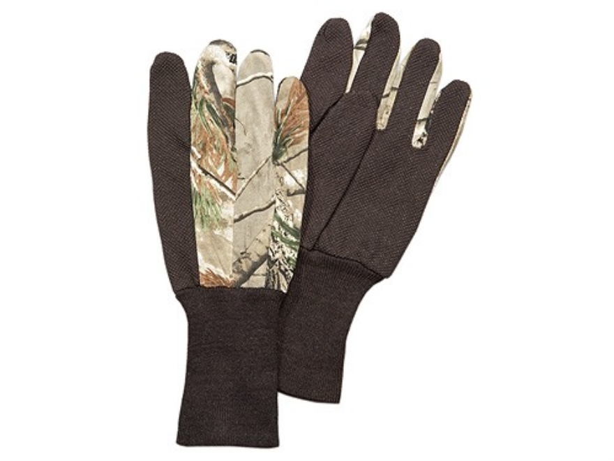 Hunter's Specialties Dot Grip Jersey Gloves Cotton Realtree AP Camo
