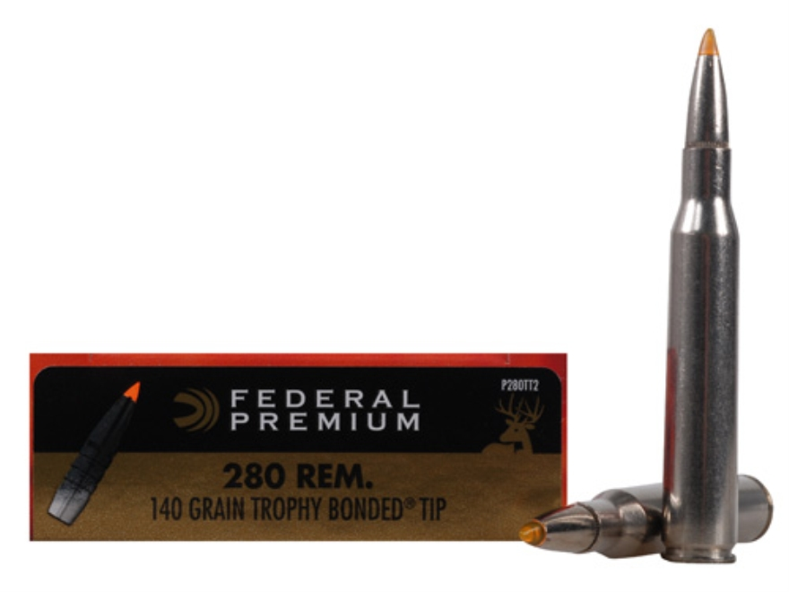 Federal Premium Vital-Shok Ammunition 280 Remington 140 Grain Trophy Bonded Tip Box of 20