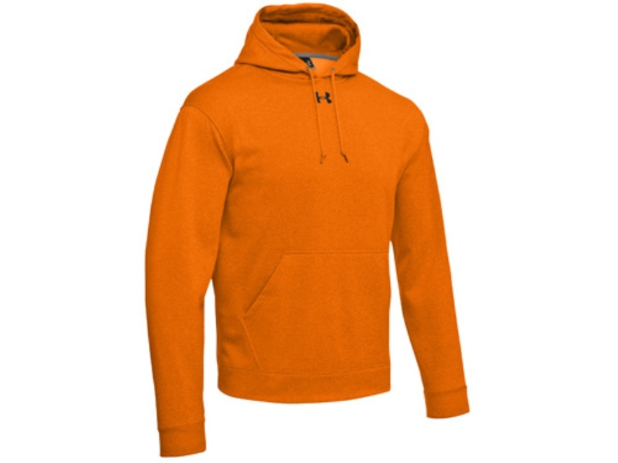under armour mens logo hooded sweatshirt polyester blaze