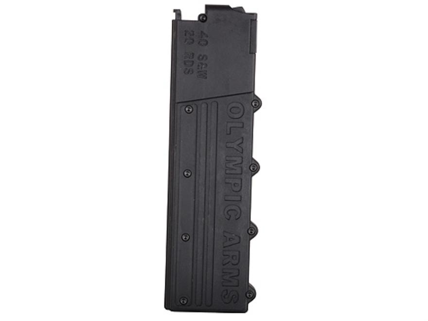 Olympic Arms Magazine AR-15 40 S&W 20-Round Polymer Black