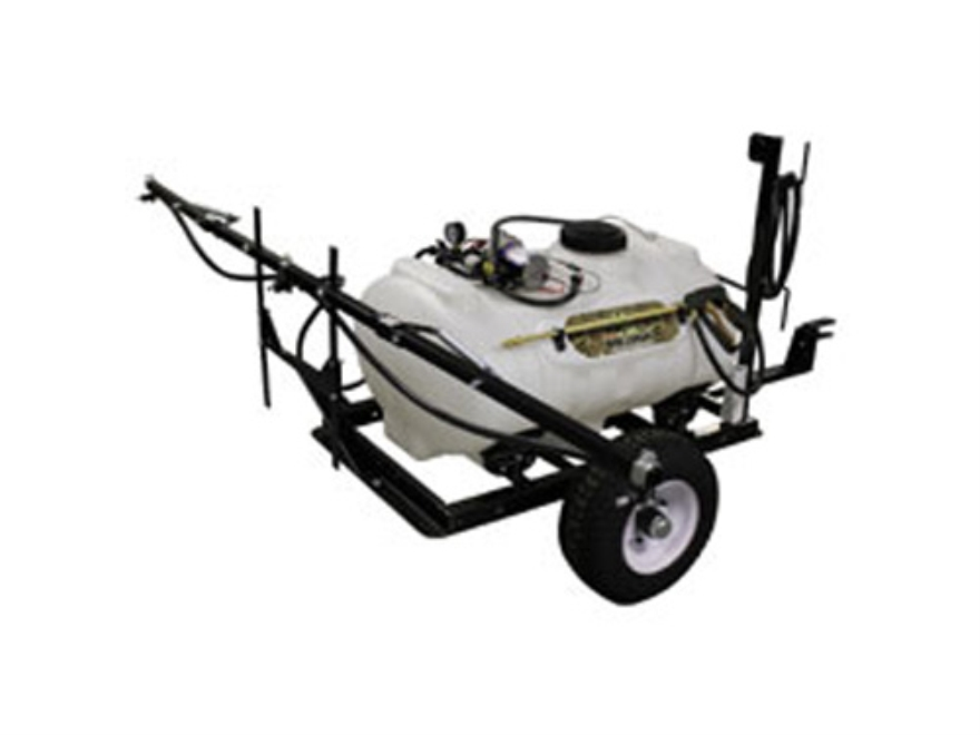 Biologic 40 Gal Tow-Behind Sprayer Steel and Polymer White