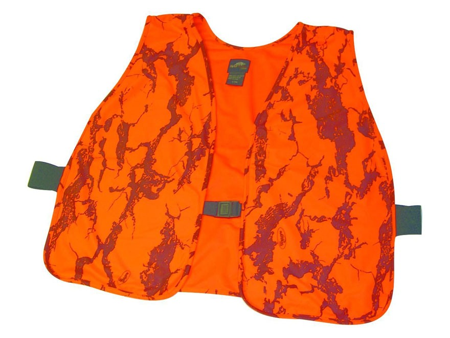 Natural Gear Hunter's Safety Vest Polyester Natural Gear Blaze Orange Camo One Size